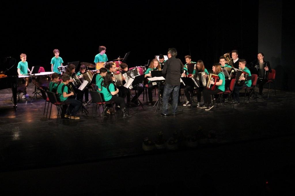 Skupni koncert harmonikarskih orkestrov GŠ Slovenj Gradec in GŠ Lendava
